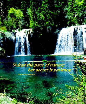 Photograph - Hanging Lakes - Paintograph With Inspirational Quotation by Christine S Zipps