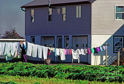 Hanging Laundry Art Print by Thomas R Fletcher