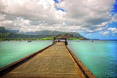 Photograph - Hanging On The Hanalei Pier by Lynn Bauer