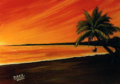 Hanging Out At The Beach #153 Art Print by Donald k Hall