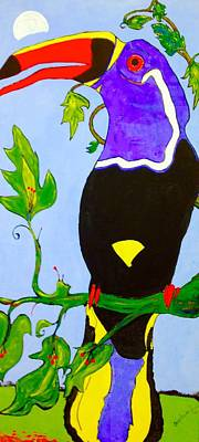 Toucan Mixed Media - Hanging Out  by Charles Fuller