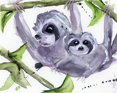 Painting - Hanging Out Together by Dawn Derman