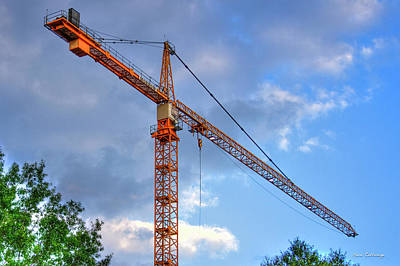 Tower Crane Photograph - Hanging Out Tower Crane Construction Art by Reid Callaway