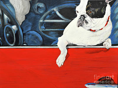 Painting - Hanging Out With Buster by Michelle Deyna-Hayward