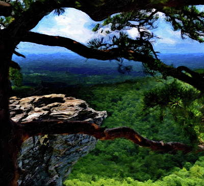 Digital Art - Hanging Rock In North Carolina by Russ Harris