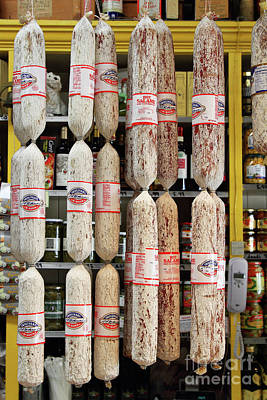 Photograph - Hanging Salami At The Molinari Delicatessen In North Beach Beach San Francisco California 7d7453 by San Francisco