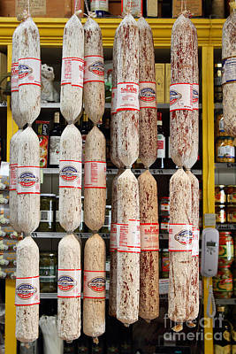 Hanging Salami Art Print by Wingsdomain Art and Photography