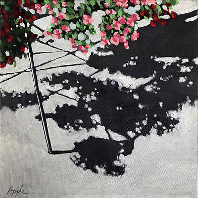 Painting - Hanging Shadows - Floral by Linda Apple