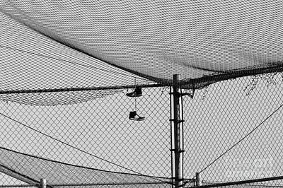 Hanging Sneakers Art Print