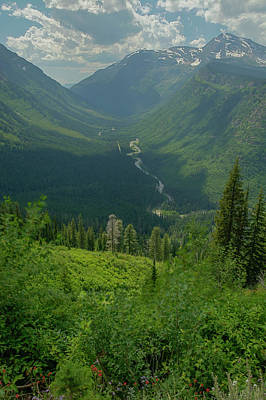 Bird Woman Falls Photograph - Hanging Valley by Constance Puttkemery