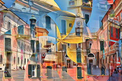 Digital Art - Hanging Venice by Yury Malkov