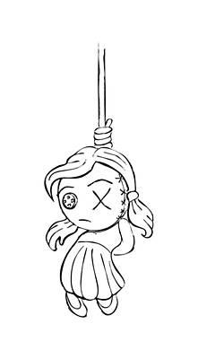 Unicorn Dust - Hanging voodoo rag doll by Skulls