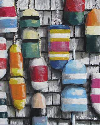 Painting - Hanging With The Buoys by Jack Skinner
