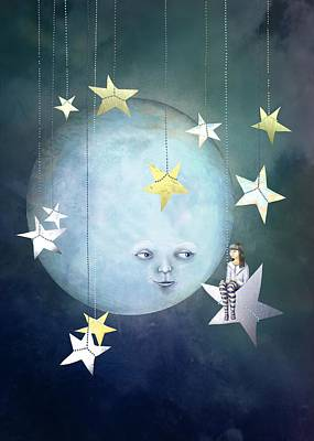 Hanging With The Stars Art Print by Catherine Swenson