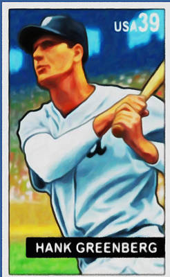 Slugger Painting - Hank Greenberg by Lanjee Chee