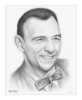 Drawing - Hank Snow by Greg Joens