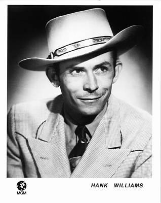 Cowboy Hat Photograph - Hank Williams 1948 by Mountain Dreams