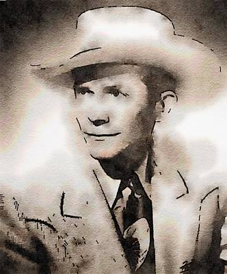Television Painting - Hank Williams By John Springfield by John Springfield