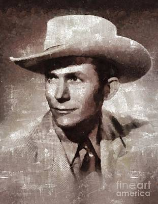 Music Paintings - Hank Williams by Mary Bassett by Esoterica Art Agency
