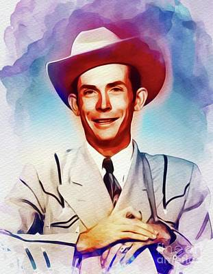 Music Paintings - Hank Williams, Country Music Legend by Esoterica Art Agency