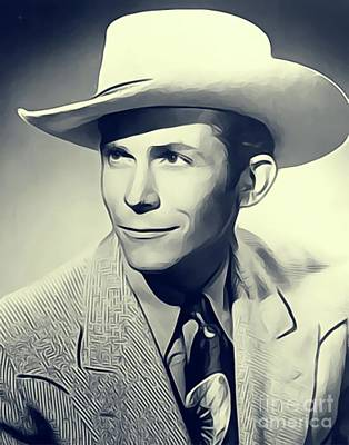 Music Royalty-Free and Rights-Managed Images - Hank Williams, Music Legend by Esoterica Art Agency