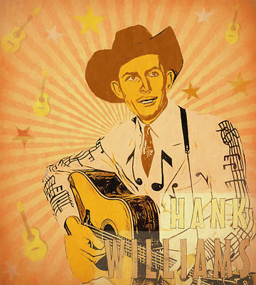Mixed Media - Hank Williams Pop Art Poster by Dan Sproul