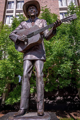 Photograph - Hank Williams Statue - Montgomery Alabama by Debra Martz