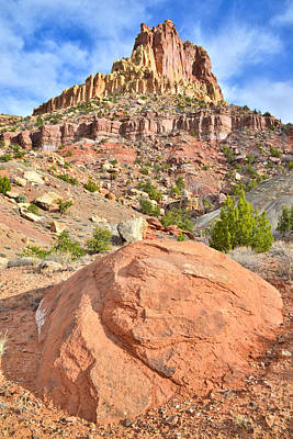 Photograph - Hanks Butte Red Rock by Ray Mathis