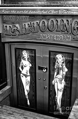 Photograph - Hanky Panky Amsterdam Mono by John Rizzuto