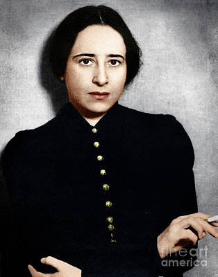 Photograph - Hannah Arendt by Granger