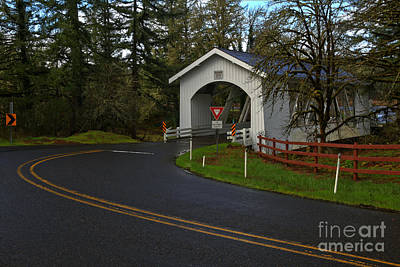 Photograph - Hannah Covered Bridge by Adam Jewell
