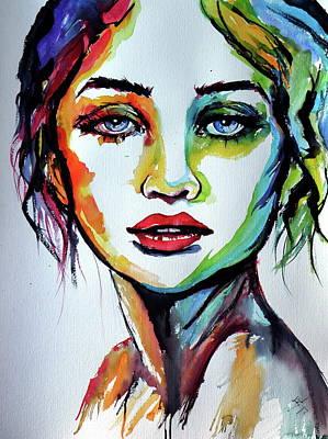 Painting - Hannah by Kovacs Anna Brigitta