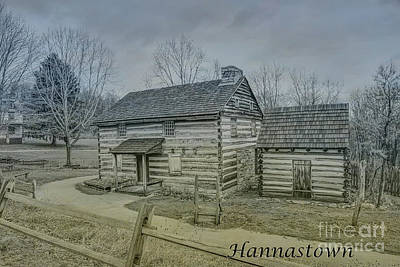 Hannastown Log Cabin One Art Print by Randy Steele