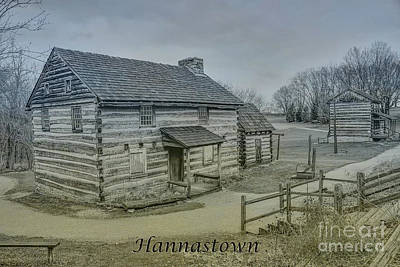 Hannastown Log Cabin Two Art Print by Randy Steele