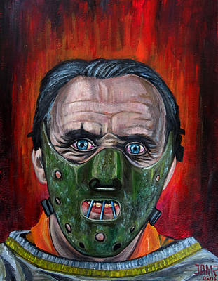 Anthony Hopkins Painting - Hannibal Lecter by Jose Mendez