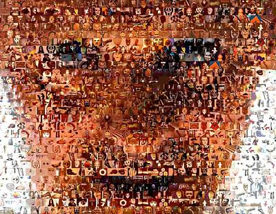 Anthony Hopkins Digital Art - Hannibal Lecter M.d. Mosaic by Paul Van Scott