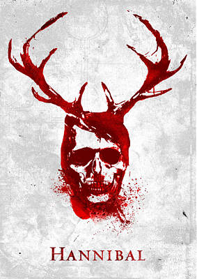 Digital Art - Hannibal Tv Show Poster by IamLoudness Studio