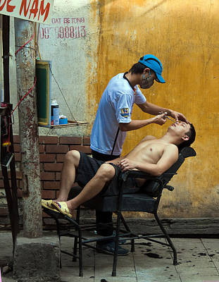 Photograph - Hanoi Barber by Joel Gilgoff