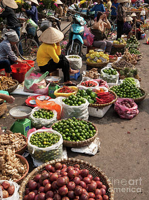 Photograph - Hanoi Market 01  by Rick Piper Photography