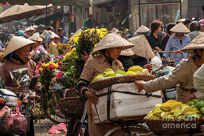 Photograph - Hanoi Market 02  by Rick Piper Photography