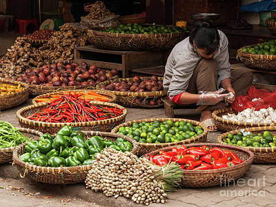 Photograph - Hanoi Market 03  by Rick Piper Photography