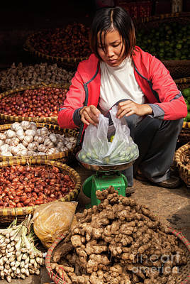 Photograph - Hanoi Market 04  by Rick Piper Photography