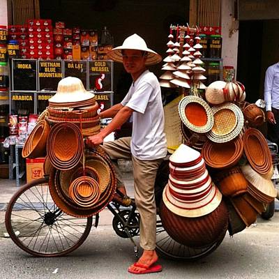 Photograph - Hanoi Street Hat by Paul Dal Sasso