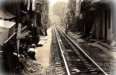 Photograph - Hanoi Tracks Housing Streets  by Chuck Kuhn