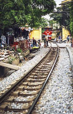 Photograph - Hanoi, Vietnam, A Train Passing In Hanoi, June 7, 2015 by Eduardo Huelin