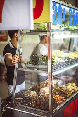Photograph - Hanoi, Vietnam  Vietnamese Street Food Seller Li by Eduardo Huelin