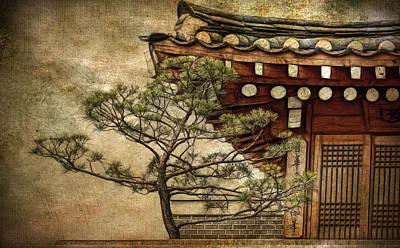 Hanok And Pine Art Print