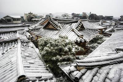 Hanok Winter Art Print by Aaron Choi
