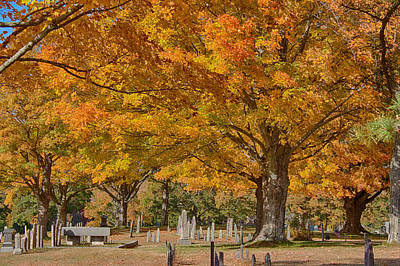 Photograph - Hanover Cemetery Fall Foliage by Jeff Folger