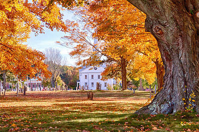 New England Fall Foliage Photograph - Hanover Cemetery Fall Foliage by Jeff Folger